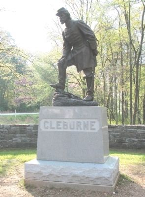 General Patrick R. Cleburne Memorial image. Click for full size.