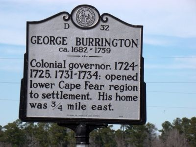 George Burrington Marker image. Click for full size.