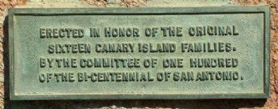 Canary Island Families Marker image. Click for full size.