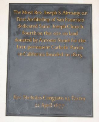 Plaque Mounted on the Wall in the Vestibule at the Entrance image. Click for full size.