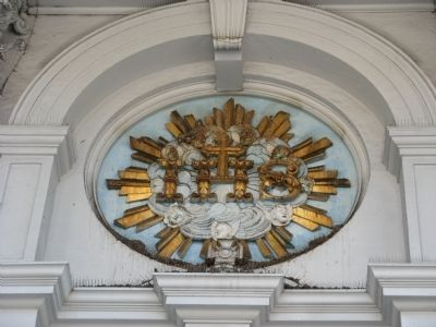 Detail Above the Entrance Doors image. Click for full size.