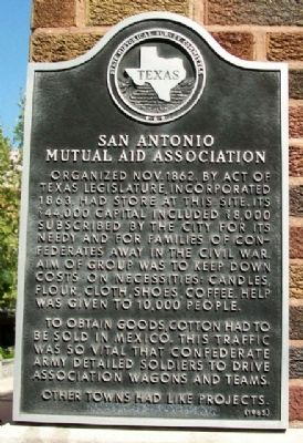 San Antonio Mutual Aid Association Marker image. Click for full size.
