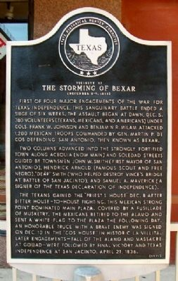 The Storming of Bexar Marker image. Click for full size.