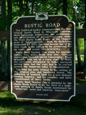 Rustic Road Marker image. Click for full size.