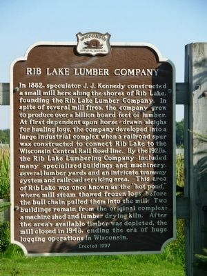 Rib Lake Lumber Company Marker image. Click for full size.