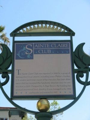 Sainte Claire Club Marker image. Click for full size.