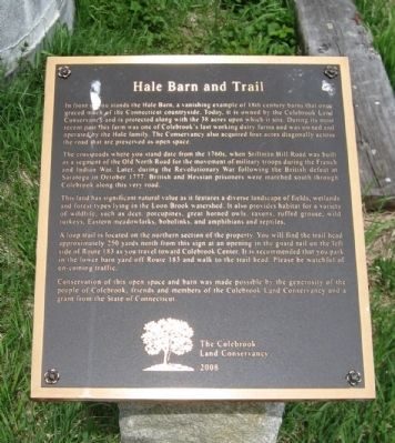 Hale Barn and Trail Marker image. Click for full size.