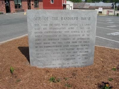 Site of the Randolph House Marker image. Click for full size.