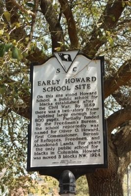 Early Howard School Site Marker image. Click for full size.