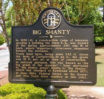 Big Shanty Marker image. Click for full size.
