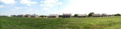 Panorama, Fort Concho parade grounds image. Click for full size.