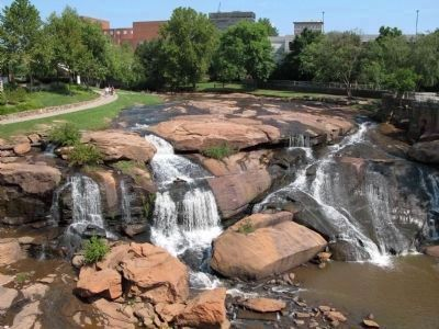 Reedy River Falls, View from Liberty Bridge image. Click for full size.
