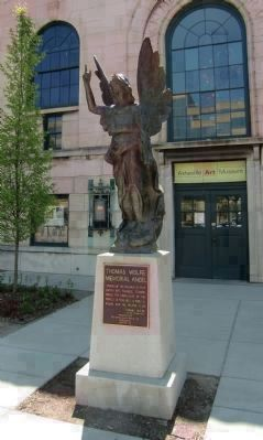 Thomas Wolfe Memorial <i>Angel</i> - at Entrance to the Asheville Art Museum, No. 2 Pack Square image. Click for full size.