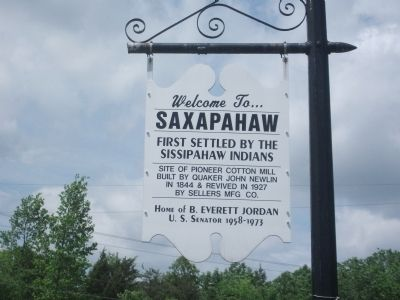 Welcome to... Saxapahaw Marker image. Click for full size.