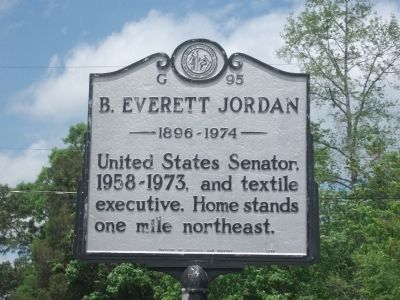 B. Everett Jordan Marker image. Click for full size.