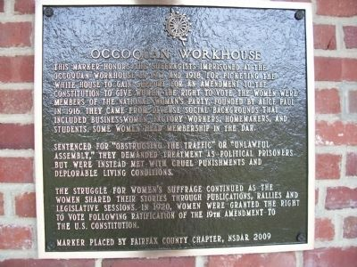 Occoquan Workhouse Marker image. Click for full size.