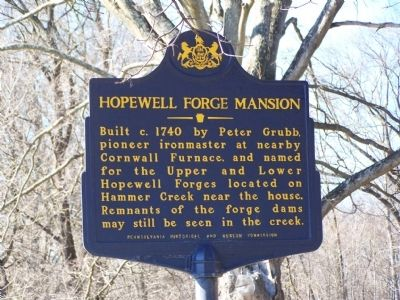 Hopewell Forge Mansion Marker image. Click for full size.