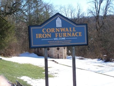 Cornwall Furnace Sign image. Click for full size.