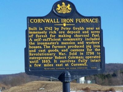 Cornwall Iron Furnace Marker image. Click for full size.