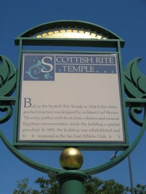 Scottish Rite Temple Marker image. Click for full size.