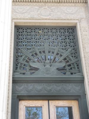 Ornamatation Above Entrance Door image. Click for full size.