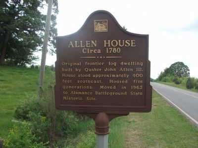 Allen House Marker image. Click for full size.