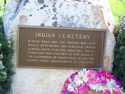 Indian Cemetery Marker image. Click for full size.