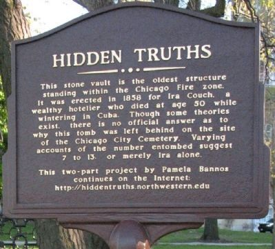Couch Tomb Marker Hidden Truths closeup image. Click for full size.