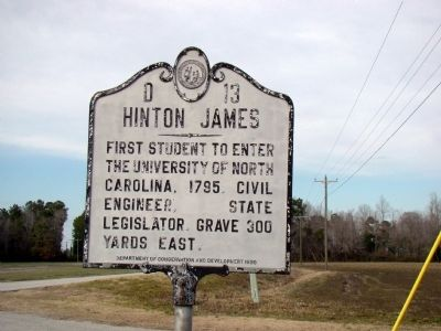 Hinton James Marker image. Click for full size.