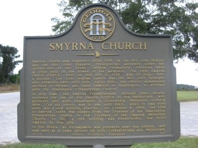 Smyrna Church Marker image. Click for full size.