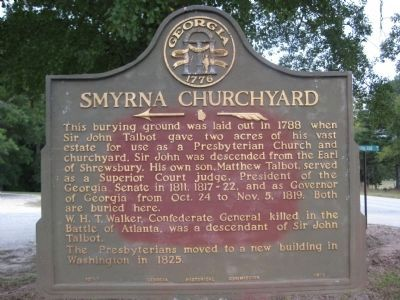 Smyrna Churchyard Marker image. Click for full size.
