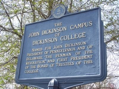 The John Dickinson Campus of Dickinson College Marker image. Click for full size.