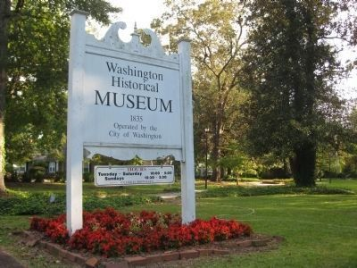 Sign for the Washington (Wikes)Historical Museum image. Click for full size.