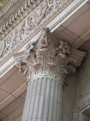 Architectural Detail at Top of Columns image. Click for full size.