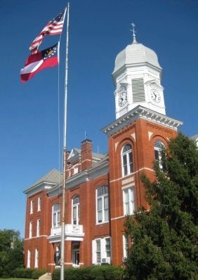 Taliaferro County Courthouse, Clock Tower, and Flagpole image. Click for full size.