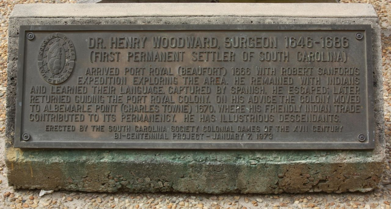 Dr. Henry Woodward, Surgeon 1646-1686 Marker