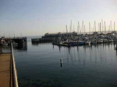 Mouth of Monterey Harbor (from Old Fisherman's Wharf) image. Click for full size.
