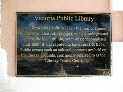 Victoria Public Library Marker image. Click for full size.