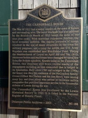 The Cannonball House Marker image. Click for full size.