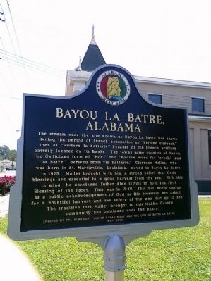 Bayou La Batre, Alabama Marker image. Click for full size.