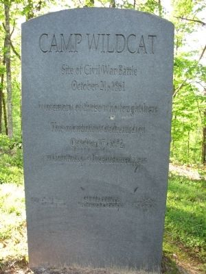 Camp Wildcat Marker image. Click for full size.