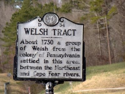 Welsh Tract Marker image. Click for full size.