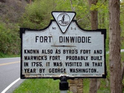 Fort Dinwiddie Marker image. Click for full size.