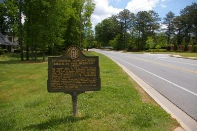 Lt. General Leonidas Polk Killed at Pine Mountain Marker image. Click for full size.