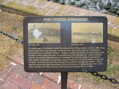 Fort Sumter Bombarded Marker image. Click for full size.