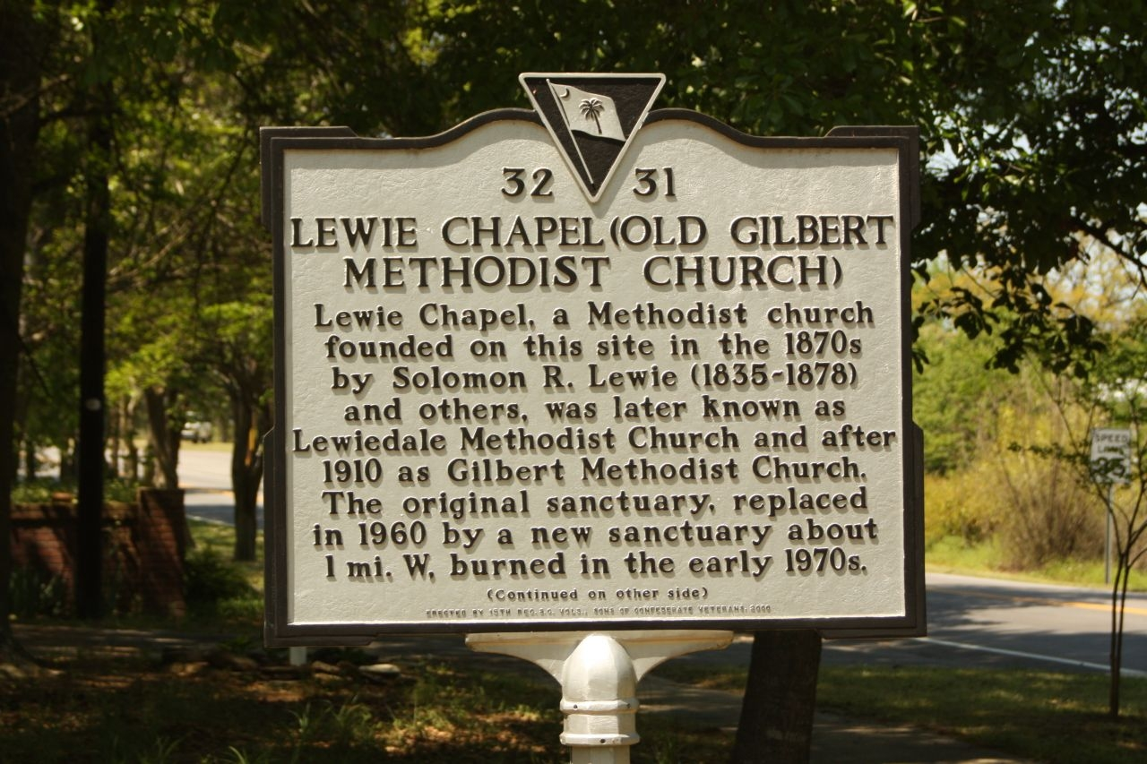 Lewie Chapel (Old Gilbert Methodist Church) Marker