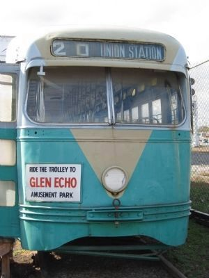 A Glen Echo Line Trolley in Roanoke, Virginia image. Click for full size.