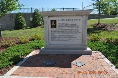 Thrasher Memorial Fountain Marker image. Click for full size.