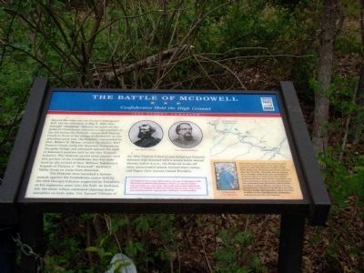Battle of McDowell Marker image. Click for full size.