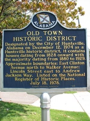 Old Town Historic District Marker image. Click for full size.